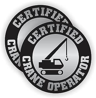 Certified Crane Operator Hard Hat Sticker | Decal Helmet Label High Reach Lift Bucket Truck
