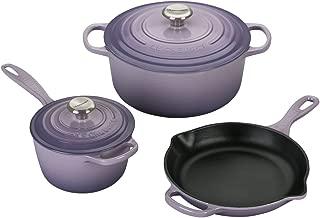 Le Creuset Signature Provence Enameled Cast Iron 5 Piece Cookware Set
