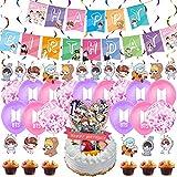 BTS Birthday Decorations Set, NALCY 40 Pcs BTS Conjunto de Decoración de...