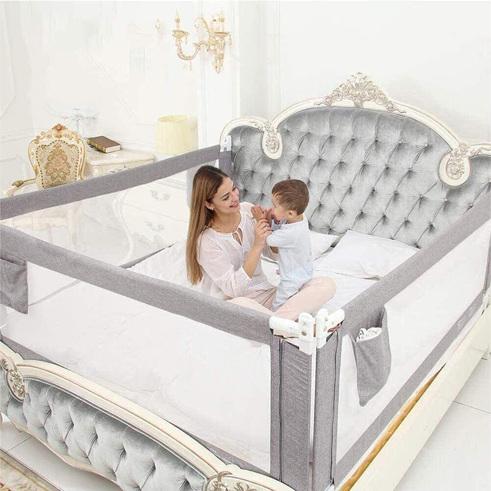 Bed Rail Kids Breathable Fabric Direct store Overseas parallel import regular item Safe Folding