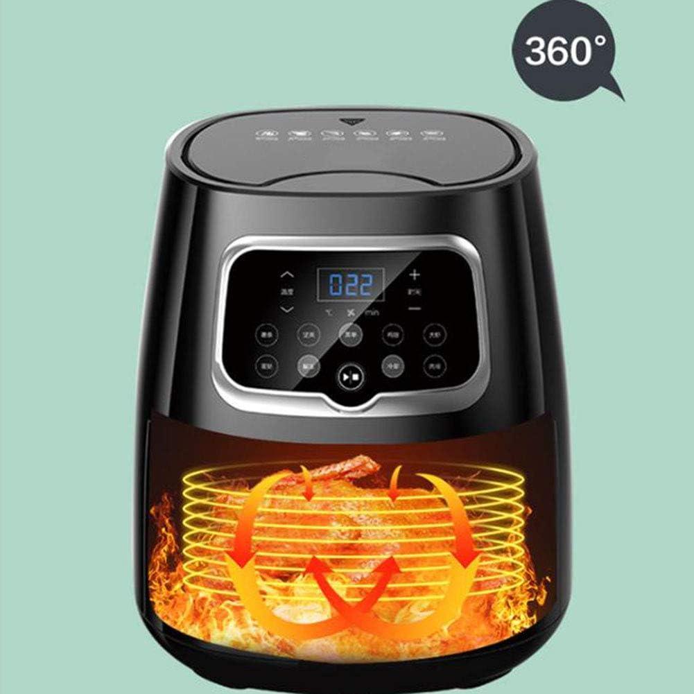 LTLCLZ Air Fryer 4,5 L Friteuse À Air Chaud sans Huile 8 Préréglages Écran Tactile LCD Arrêt Automatique avec Panier Anti-Adhésif Facile d'entretien 1350W,Noir Black