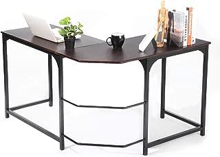 L Shaped Corner Desk, GreenForest Computer Gaming Home Office Desk PC Workstation Study Table, Espresso