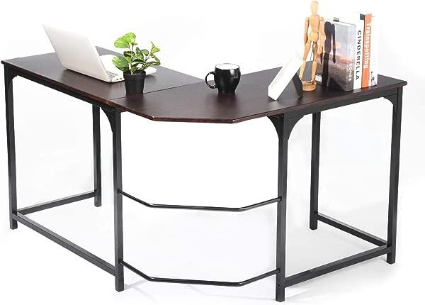 L Shaped Corner Desk GreenForest Computer Home Office Desk PC Workstation Study Table Espresso