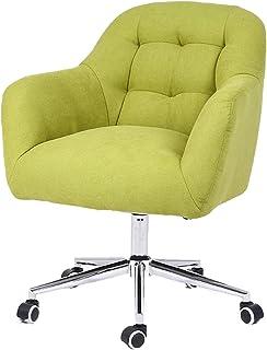 Silla de Escritorio de Oficina ergonómica Silla giratoria, silla de oficina ergonómica ajustable, cojín de asiento grueso, tela de terciopelo para ejecutivo, dibujo, juegos o oficina Cómoda silla de