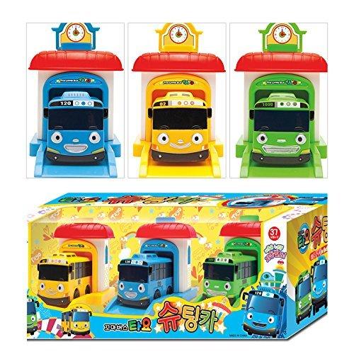 The Little Bus TAYO Shooting Car Set (Tayo+Rogi+Rani) リトルバス タヨ シューティングカーのおもちゃセ...