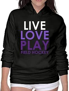 Live Love Play Field Hockey Women Comfy Hoodies Sweatshirts Sweatshirts Juniors