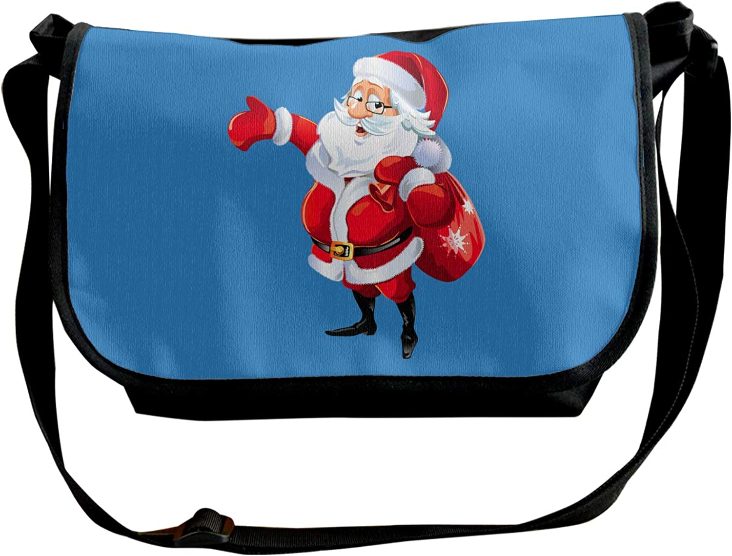 Single Shoulder Pack Santa Claus Christmas Hiking Bag Single Shoulder for Women