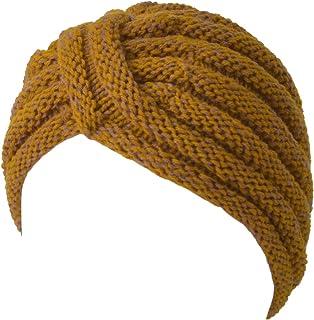 de0f06dcf0d CHARM Knit Womens Turban Beanie - Warm Winter Hat Head Wrap Hippie Boho  Retro Fashion