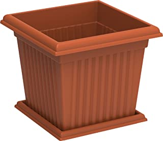 Cosmoplast Plastic Square Planter 10 Liters With Tray