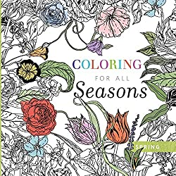 spring and easter coloring books for adults