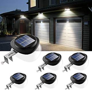 Houkiper Parapetto Solare Applique da Parete a LED ad energia Solare Applique da Esterno per Esterno Luci di Sicurezza per Garage Cortile Scale 10 PCS
