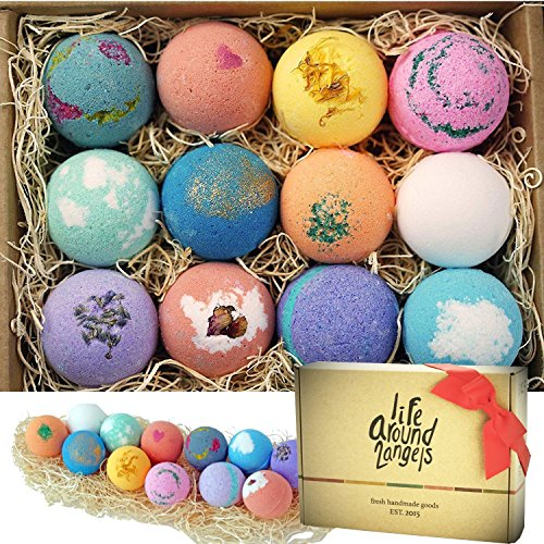 LifeAround2Angels Bath Bombs Gift Set 12 USA made Fizzies,...