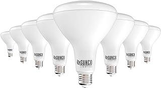 Sunco Lighting 8 Pack BR40 LED Bulb, 17W=100W, Dimmable, 6000K Daylight Deluxe, 1400 LM, E26 Base, Indoor Flood Light for ...