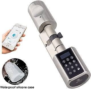 WE.LOCK Smart Door Lock Cylinder Double Motor Password y Bluetooth con tarjeta RFID, estuche a prueba de agua L6PC+B