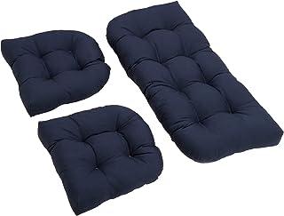 Fenteer 3 Pcs Bench Seat Cushion Cotton Garden Furniture Loveseat Cushion Patio Lounger Chairs Back Cushions Seat Pillows ...