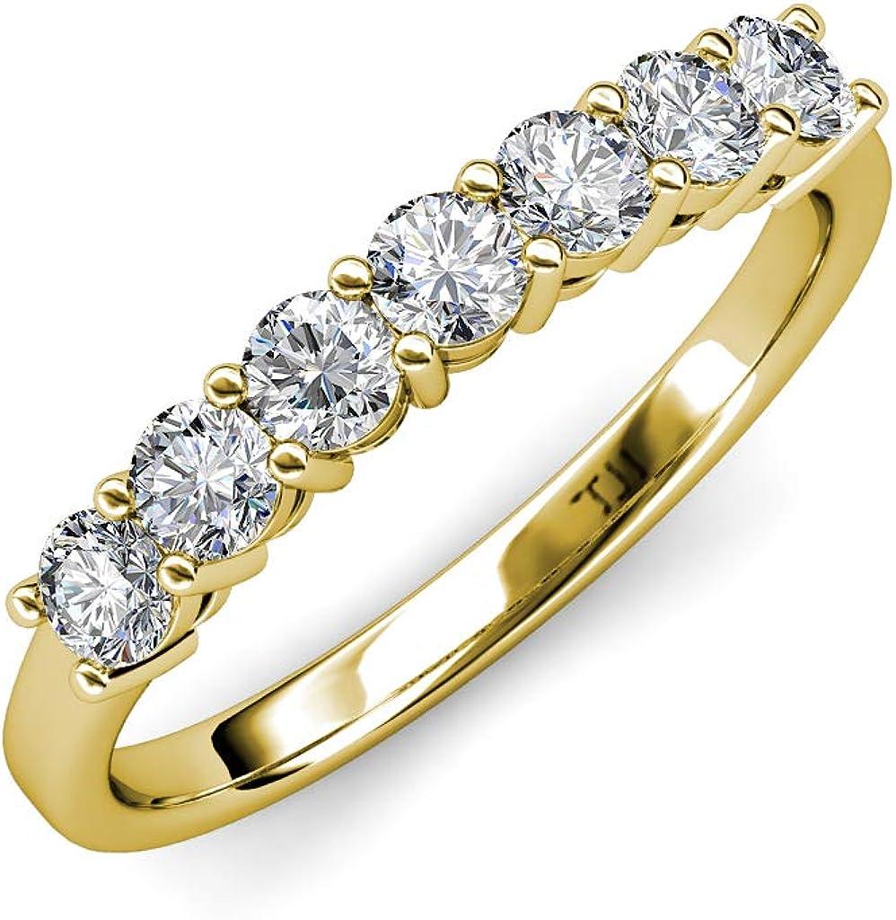 TriJewels Round Lab Grown Diamond 3.5mm Womens 7 Wedding B Louisville-Jefferson County Mall Long Beach Mall Stone