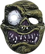 Jeash Halloween Horrific Demon The Evil Eyes Terror Mask Skull Style Mask Melting Face Adult Costume Halloween Scary