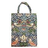 Signare Tapiz bolsas reutilizables fruta y verdura tote bag bolsas de la compra reutilizables con diseño de William Morris (Strawberry Thief Blue)