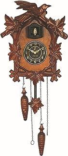 الوقواق ساعة التقليدية السوداء الغابات شاليه ساعة يدويا كوارتز ساعة جدار ديكور SYLOZ