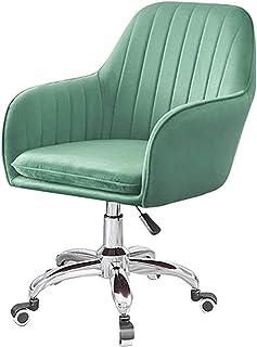 Sillas De Escritorio De Oficina, Sillas de escritorio Sillas giratorias giratorias de terciopelo, sillas de oficina giratorias, escritorio, sillas de acento con acabado cromado, patas y ruedas, sillas