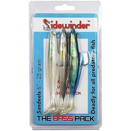 """Natural Holographic Sidewinder SHIMMER EELS 6/"""" Saltwater Lures"""