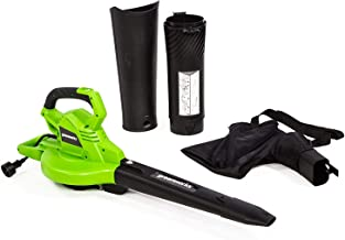 Greenworks 12 Amp Corded 2-Speed Leaf Blower/Vacuum, 270MPH-400CFM, BLV12B00