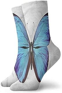 New Short Socks Butterflies,Natural Jungle Wildlife Funny Socks meia masculina