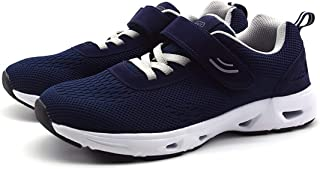 AOIREMON Casual Comfort Walking Shoes,Breathable Safety Non-Slip Hook & Loop Sneakers, Diabetic Edema Feet Soft Sole Air C...