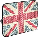 Sidorenko Laptop Tasche für 14-14,2 Zoll | Universal Notebooktasche Schutzhülle | Laptoptasche aus Neopren, PC Computer Hülle Sleeve Hülle Etui, Rosa/Hellblau