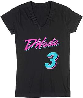 The Tune Guys Black Miami Wade Vice City Ladies V-Neck T-Shirt
