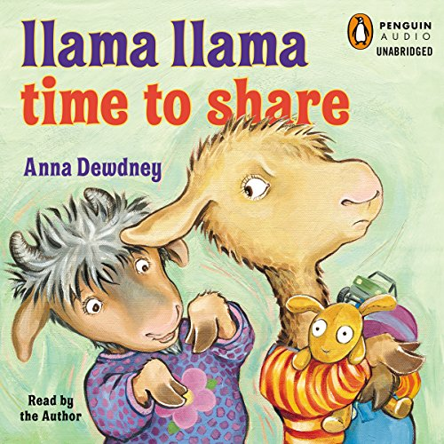 Llama Llama Time to Share audiobook cover art