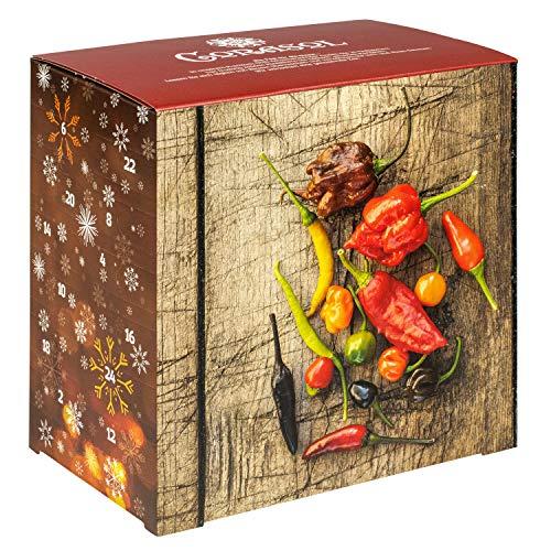 Corasol Premium Chili Adventskalender 2020 XL, 24 Chilisorten mit bis zu 1.5 Mio. Scoville,...