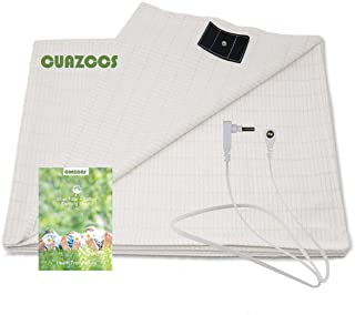 Grounding Sheet with Nature Cotton Silver Fiber - Conductive Grounding Sheets for Healthy Sleep (27x52 inch)