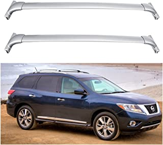 ANTS PART Roof Rack for 2013 2014 2015 2016 2017 Nissan Pathfinder Cross Bar Bolt-On OE Style Silver Luggage