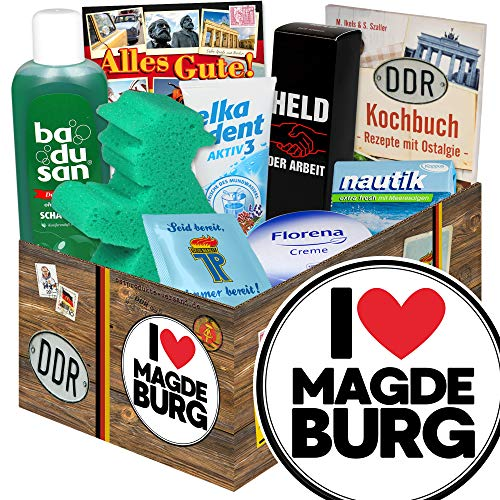 I love Magdeburg / DDR Geschenkbox Pflege / Magdeburg Geschenk Paar