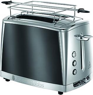 Russell Hobbs 23221-56 Luna İki Dilim Kapasiteli Ekmek Kızartma Makinesi, 1.5lt/12 fincan, Paslanmaz Çelik, Gri ( Moonligh...