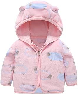 Toddler Kids Boys Girls Hooded Fleece Coat Winter Outwear Windproof Zipper Puffer Jacket