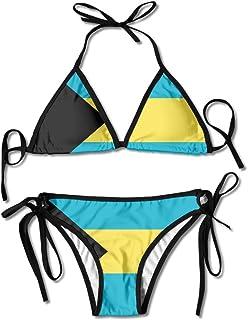 Bahamas Flag Sexy Boxing Bikini Women Halterneck Top and Set Swimsuits Beach Swimming