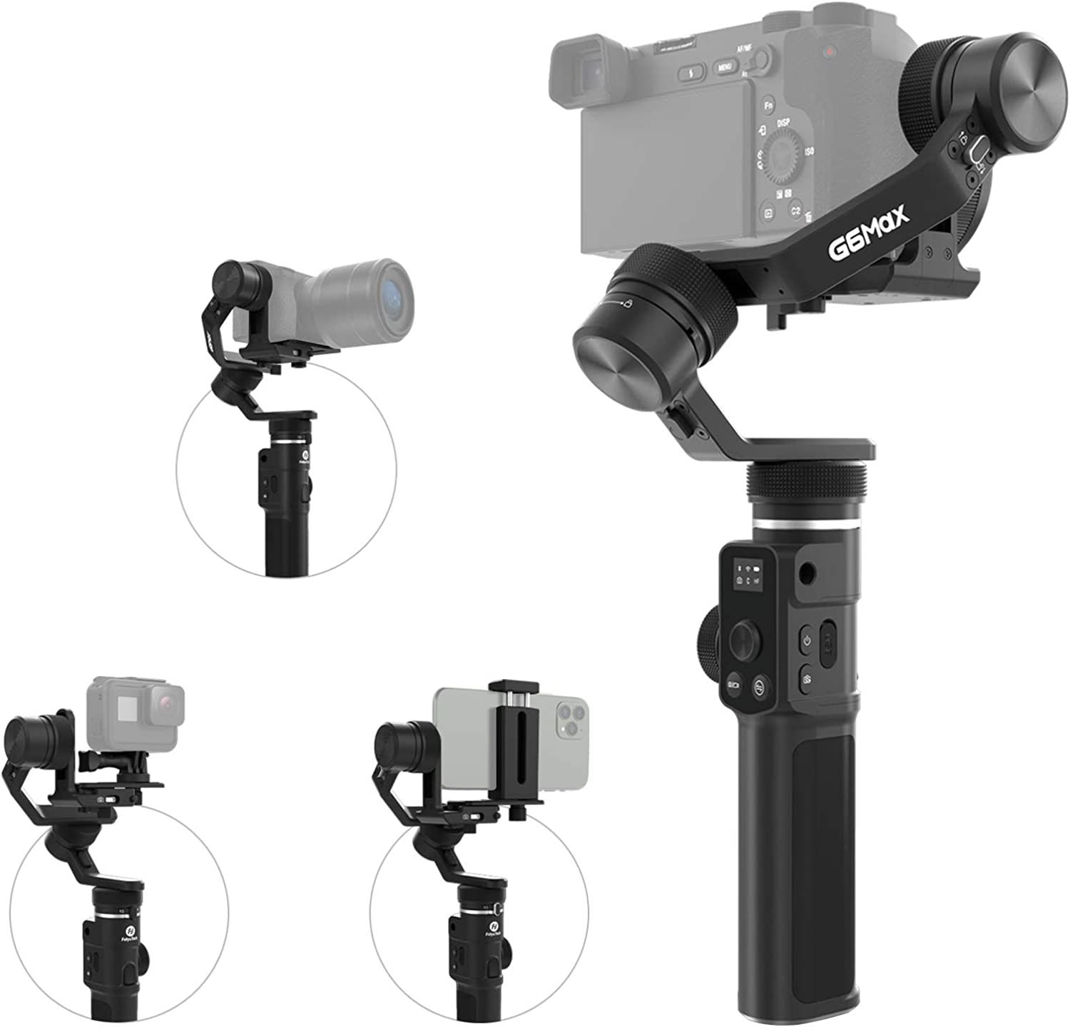FeiyuTech G6 5 ☆ very popular Max 4-in-1 Gimbal Stabilizer Handheld Ranking TOP16 3-Axis Comp