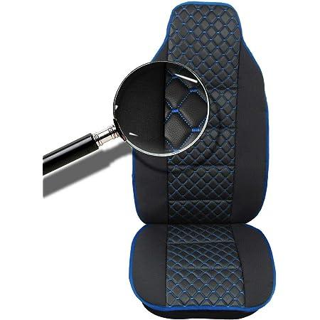 1x Sitzauflage Lkw Sitz Sitzbezug Sitzkissen Schwarz Blaue Naht Lkw Sitzschöner Baby