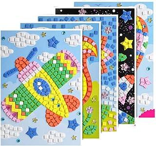 SUPVOX Mosaico Sticker 3D DIY Manual Pin Up Picture Crafting para niños Kindergarten 6pcs