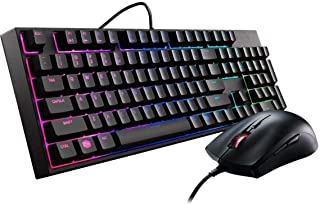 Cooler Master MasterKeys Lite L Combo RGB Keyboard and Mouse, Mem-chanical Switches and Zoned Brilliant RGB Lighting