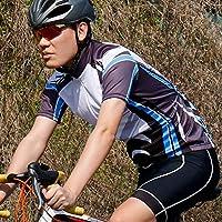 男性用ウォーキング用サイクリングジャージーウォッシャブル軽量通気性アウトドアサイクリングウェア(M)