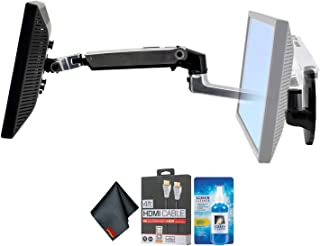 Ergotron 45-243-026 LX Wall Mount LCD Arm + LCD Cleaning Kit + 4FT HDMI Cable