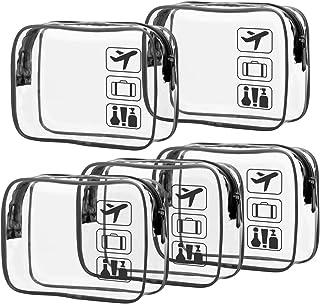 کیف لوازم آرایش مصوب TSA ، کیف پاک کننده لوازم آرایشی پاکتی ، اندازه کیسه ضد آب ، کیف لوازم آرایشی آرایش مسافرتی برای آقایان ، کیف های سازگار با هواپیما را در فرودگاه حمل کنید ، 3 بسته ، سیاه