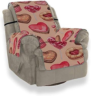 Valentine Day Chocolat Peint à la Main Doux Amour Romantique Dessert Couch Protector Covers pour Canapé 1 pièce Stretch Houss