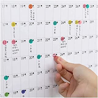 Calendars 2020 Block Year Planner Daily Plan Paper Wall Calendar with 2 Sheet EVA Mark Stickers for Office School Home (Co...
