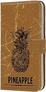 HUAWEI P20 Pro (HW-01K) PU手帳型 カードタイプ [フルーツ・パイナップル] 手描き ビンテージ ピートゥエンティプロ スマホケース 携帯カバー [FFANY] freehand-159@02c