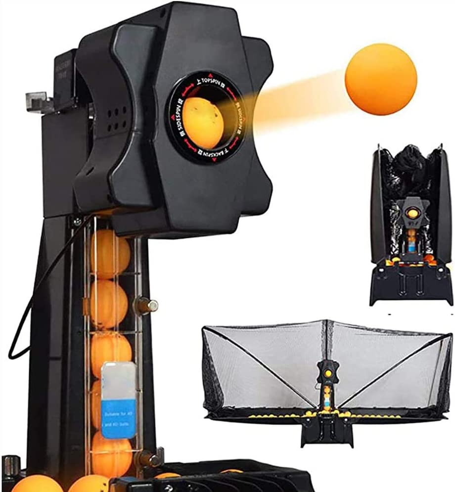IOIOA Mesa de Ping Pong Robot automático, Remoto para máquina automática Pelota de Tenis Servicio de Mesa de Ping-Pong Máquina Multi-Giro de la Mesa de la máquina con Net