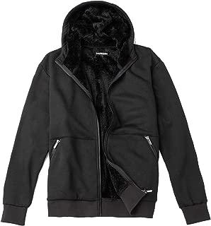Men's Fleece Full-Zip Hooded Sweatshirt,Sherpa Lined Hoodie Jacket